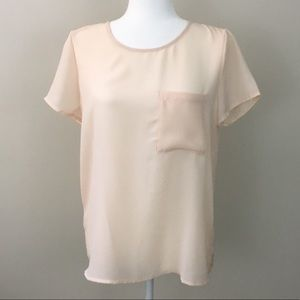 Forever 21 Sheer Blouse Size Medium